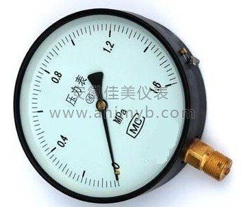 一般压力表系列用于测量无爆炸危险,不结晶,不凝固,且对钢及铜合金不